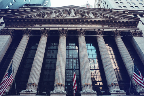 Stock Exchange building NYC